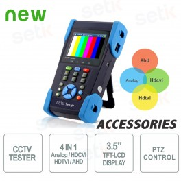 "Tester Analogico Professionale 4 in 1 - Schermo 3.5"" TFT-LCD - Setik"