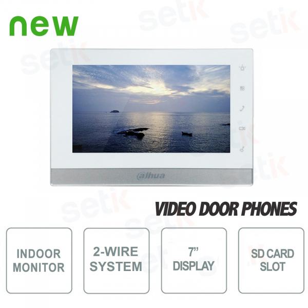 """Postazione Interna Intercomunicante Bifilare - Display 7"""" Touch - Slot SD Card - Dahua"""