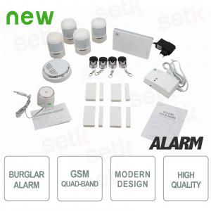 Kit Allarme Wireless GSM Casa... Setik AL-KIT4W-GEN1 ANTIFURTI