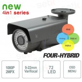 Telecamera Videosorveglianza Quadribrida 2Mp 1080P 9-22mm - Setik