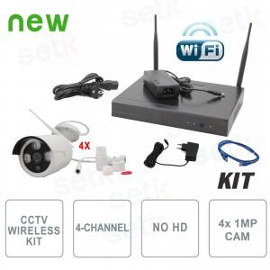 Kit Videosorveglianza Wireless IP 4 Canali - Setik