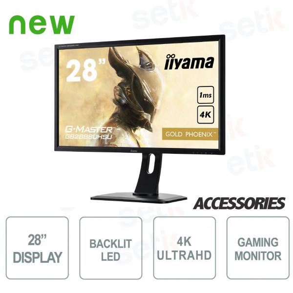 "Gold Phoenix Gaming Monitor 28 ""Ultra HD 4K G-Master - IIYAMA"