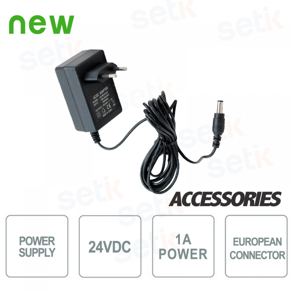 1A 24V power supply for one single CCTV camera - Setik
