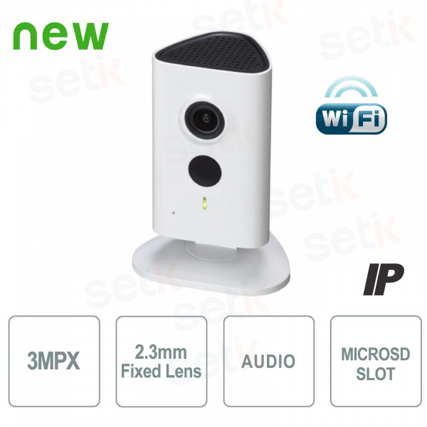 IP Newtork Camera for Indoor 3MP HD WiFi and IR LED - C Series - Dahua