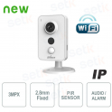 Telecamera IP WiFi 3MP 2.8mm IR Allarme Audio - Serie Cube - Dahua