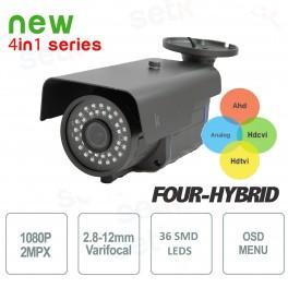 Telecamera Videosorveglianza Quadribrida 2Mp 1080P 2.8-12mm - Setik