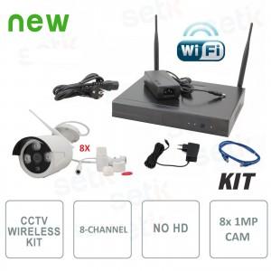Kit Videosorveglianza Wireless... Setik ST-8KITIP960W IP