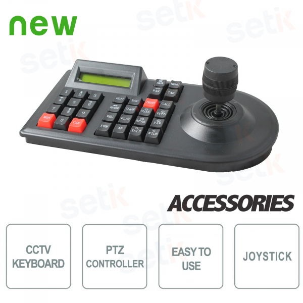 3D PTZ Keyboard Controller - Display - RS485 & RS232