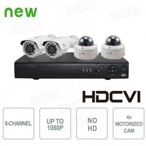 Kit Videosorveglianza 8 Canali... Setik KIT-4-8-CVI-2MP-DB HD-CVI