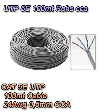 Matassa di cavo di rete UTP 100mt categoria 5e -100MT5ECCA