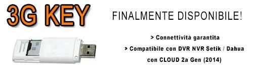Chiavetta 3G 3GKEY compatibile con DVR NVR Setik/Dahua provvisti di CLOUD GOOLINK 2a Generazione