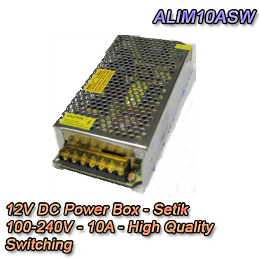 Alimentatore Box con potenza 10A switching - Setik