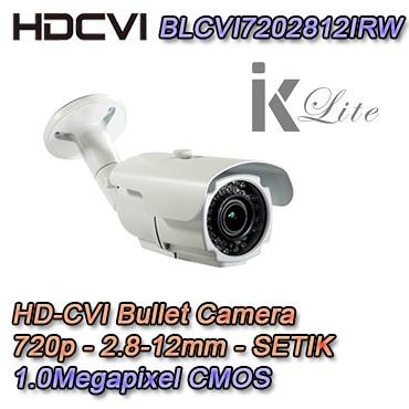 Telecamera hdcvi bullet con risoluzione 720p e ottica varifocale 2.8-12mm