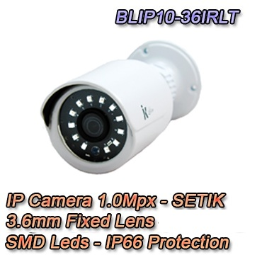 Telecamera IP 1Mpx 3.6mm Dual Core DSP IP66 Videosorveglianza