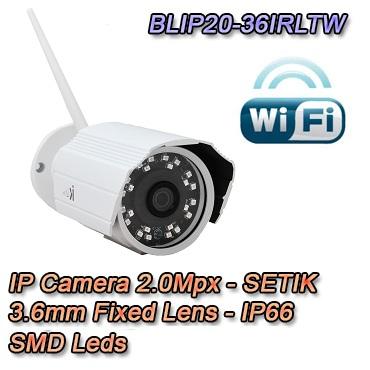 Telecamera IP 2Mpx 3.6mm Wireless Dual Core DSP IP66 Videosorveglianza