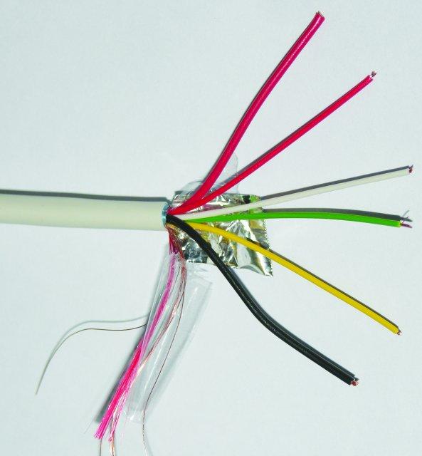 Alarm cable, 100mt skein - 2,0,50+4x0,22 - SETIK