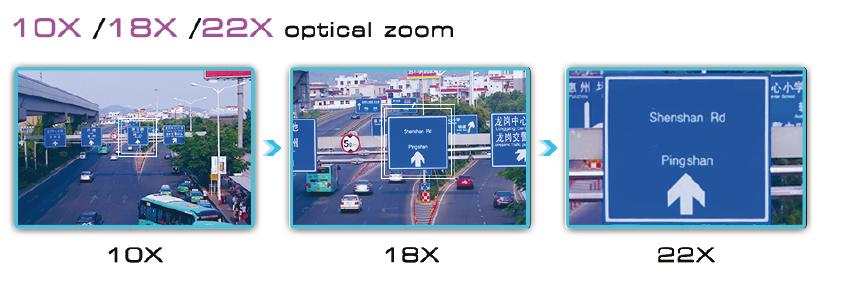 Immagine esempio zoom ottico 10x 18x e 22x