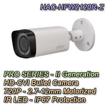 Bullet Camera with 720P resolutiona and 2.7-12mm varifocal optics. IP67