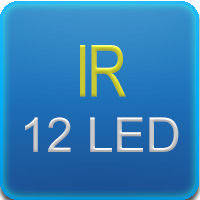 Illuminatore IR con 12 led