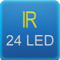 Illuminatore IR con 24 leds