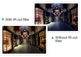 Immagine esempio funzione IR CUT FILTER
