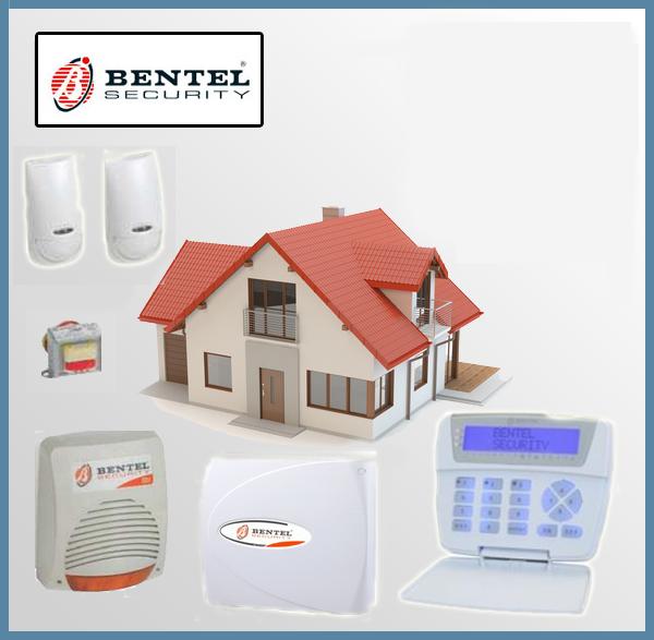 KIT Antifurto Allarme Domestico a filo Completo - Bentel