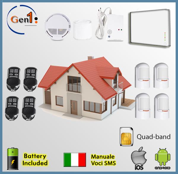 Al kit4w gen1 antifurto allarme domestico wireless - Prezzo allarme casa ...