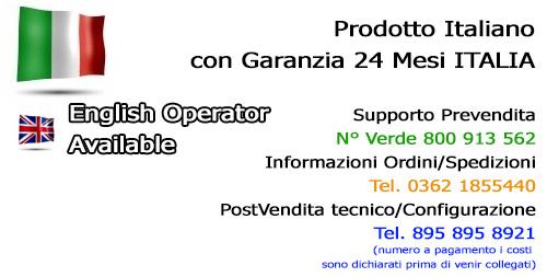 Prodotto italiano con garanzia italiana 24 mesi