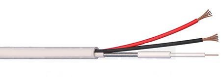 Micro Cavo Coassiale Composto 100 Metri + Alimentazione