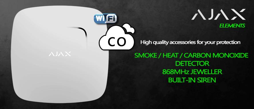 Rilevatore di fumo e monossido di carbonio con sensore di temperatura 868MHz