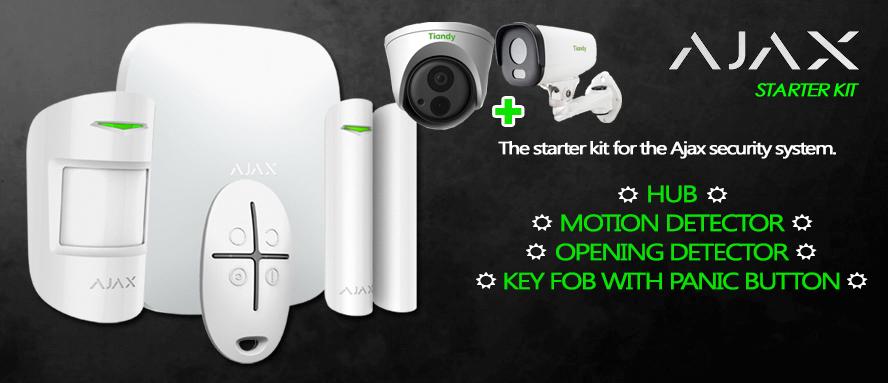 Kit Ajax Allarme senza fili wireless GPRS/LAN 868Mhz Starter