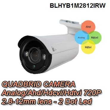 Telecamera Bullet 4in1 per la videosorveglianza. 720p ottica varifocale 2.8-12mm - BLHYB7202812IRW