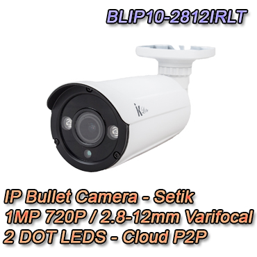 Telecamera IP 720P 1MP 2.8-12mm Cloud P2P