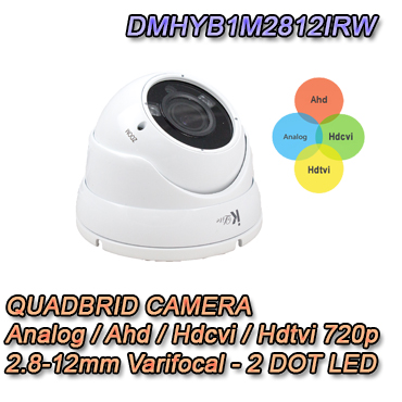 "Telecamera Dome 720P 2.8-12mm Ibrida 4in1 ""Analogica+Ahd+Hdcvi+Hdtvi"""