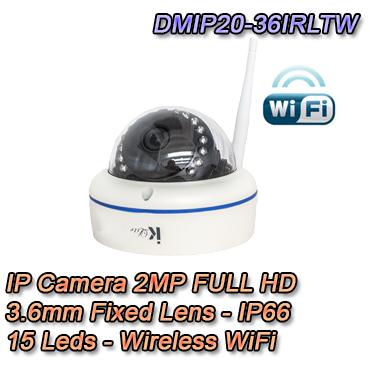 Telecamera IP 2Mpx 3.6mm IP66 Wireless Videosorveglianza