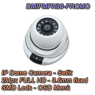 Telecamera IP 2Mpx 3.6mm  IP66 Videosorveglianza