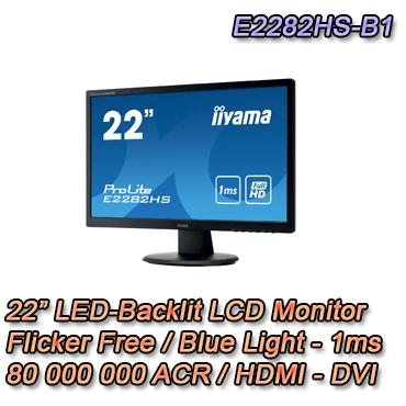 "Monitor LED da 22"". 1080P FULL HD"