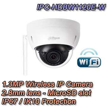 Telecamera IP Dome 1.3Mp 2.8mm IP67 IK10 WiFi