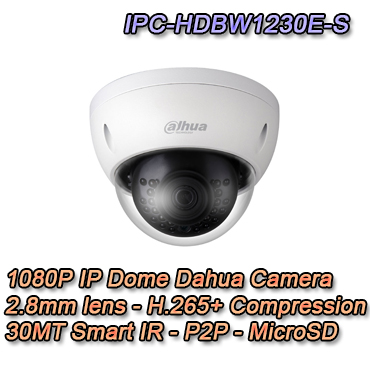 Telecamera IP Dome 2MP 2.8mm