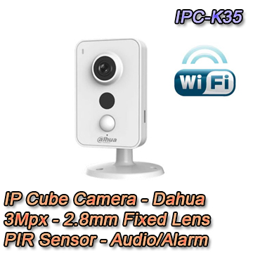 IPC-K35 - Telecamera IP 3MP Dahua WiFi PIR - prezzo