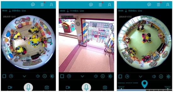 Immagini esempio applicazione mobile IPC360