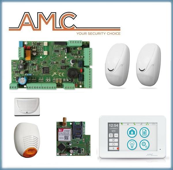 Kit Antifurto Allarme Centrale X824 + Tastiera UNIKA + Modulo GPRS + Sensori Dual Tech + Sirena da esterno e sirena piezoelettrica