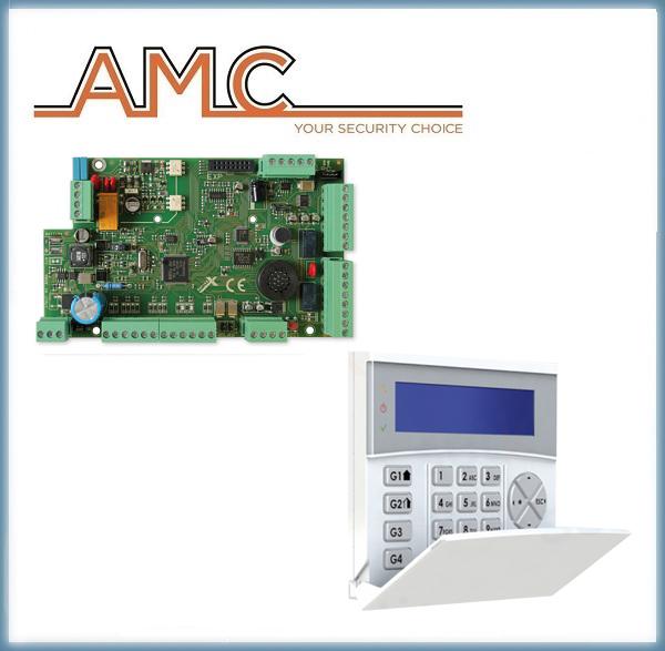 Kit Antifurto Allarme Centrale X824 + Tastiera K-LCD BLUE