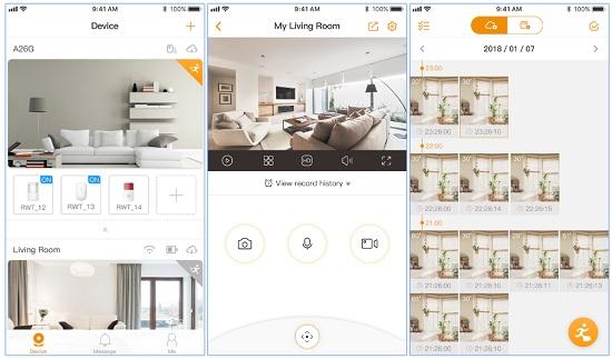 Visione da applicazione mobile Lechange