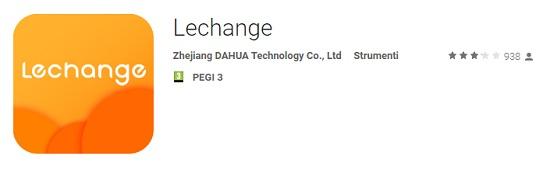 Applicazione Lechange Cloud P2P