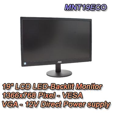 Monitor LCD da 19 pollici. Setik