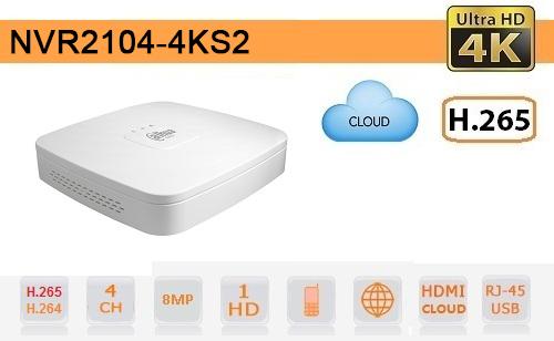 NVR 4 Canali IP Dahua fino a 8megapixel 4k ultra hd