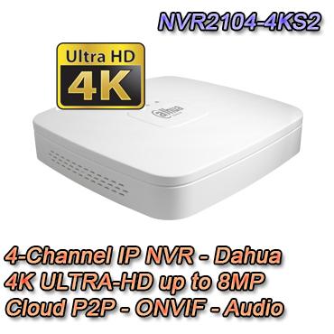 NVR IP Dahua con risoluzione fino a 8MP