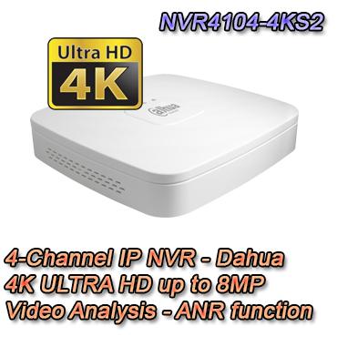 NVR IP 4 Canali 4K ULTRA HD Video analisi