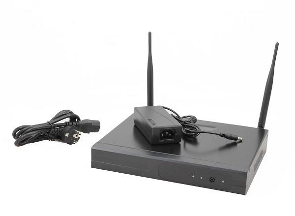 NVR IP per la videosorveglianza a 4 Canali WiFi Wireless